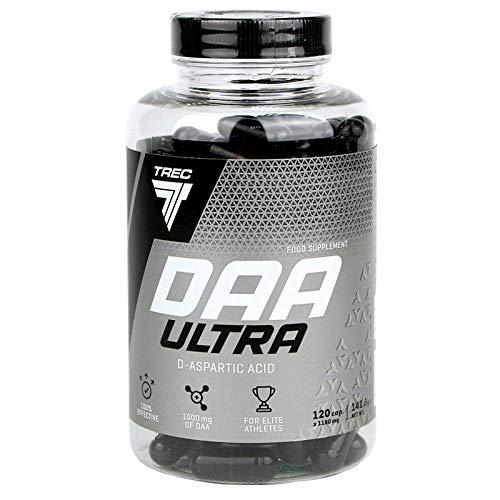 DAA 120 cápsulas | Ácido D-aspártico | Potenciador de testosterona | Apoyo hormonal | Anabólico | Potenciador de la libido | Crecimiento de masa muscular magra