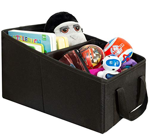 LIONSTRONG Autositz Organizer für Rücksitz Frontsitz und Kofferraum, Aufbewahrungsbox ideal für Spielsachen, mit dem Sicherheitsgurt zu befestigen
