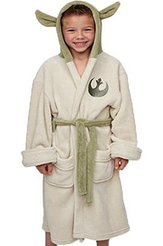 Mesodyn Kids Robe Halloween Cosplay Bathrobe  Yoda Robe (Kids Size)