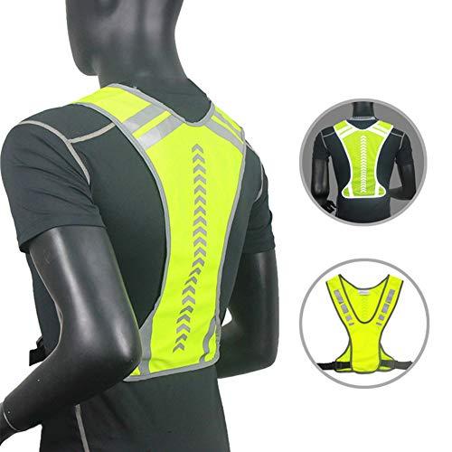 FLOX Chaleco Reflectante Unisex para Correr, Andar en Bicicleta, Andar
