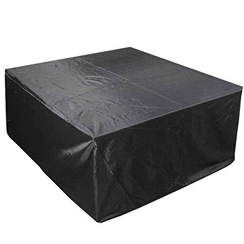 Fundas para muebles de patio 330x220 & times; 70cm, fundas para muebles para almacenamiento al aire libre Funda impermeable a prueba de viento Juego de combinación de mesas y sillas de patio de tela