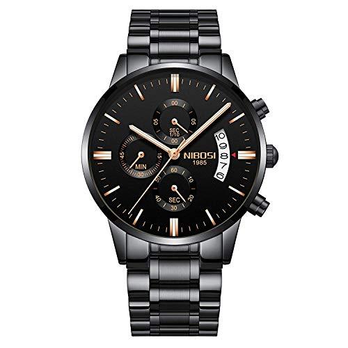 NIBOSI Chronograph Men's Watch ( Black Dial & Strap )