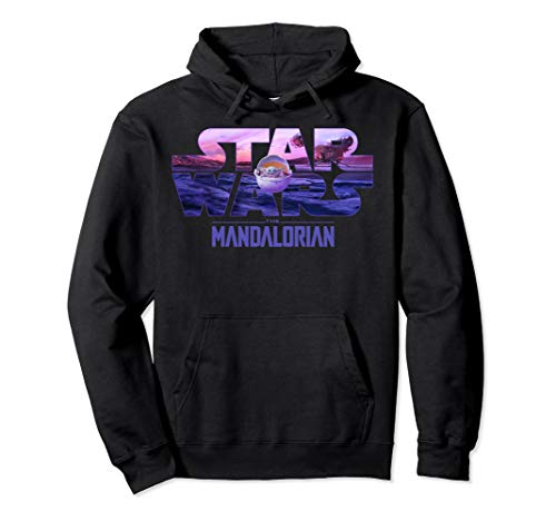 Star Wars The Mandalorian The Child Logo Fill Pullover Hoodie
