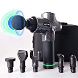 Massage Gun Deep Tissue Percussion Massage Gun - 30-Speed,6 Heads, Super Quiet Muscle Massager for Pain Relief, Muscle Soreness and Recovery (Carbon Fiber)