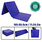 CCLIFE Tri Folding 6ft 5cm(1.96'') thickness Gymnastics Mats Gym Exercise Workout Fitness Foam