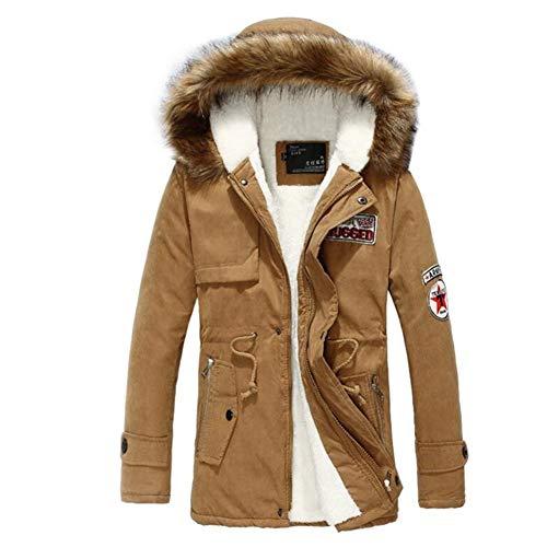 Saoye Fashion Abrigos de Moda Gabardina de Hombre Chaqueta de Invierno Chaqueta Ropa de Fiesta Cortavientos Outwear S Abrigo de Invierno clásico Vintage (Color : Khaki, One Size : XL)
