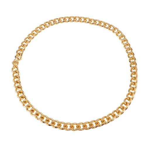 joyMerit Collar de Cadena de Bordillo de Aleación 36.6 'Collar de Eslabones Cubanos de Largo Hombres Joyas Dorado - Dorado, mi