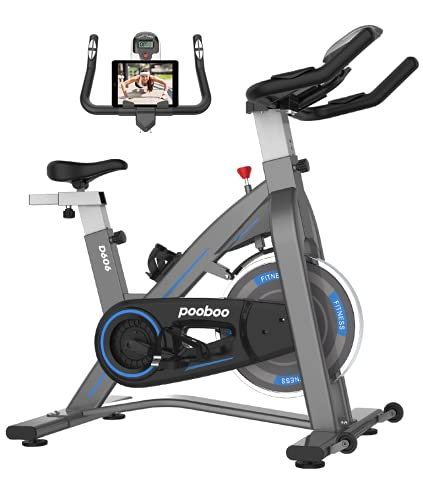 JKANGFIT Exercise Bikes Stationary - Indoor Cycling Bike Magnetic Exercise Bike with Quiet Belt Drive and LCD Monitor, Fitness Bike for Home Cardio Workout