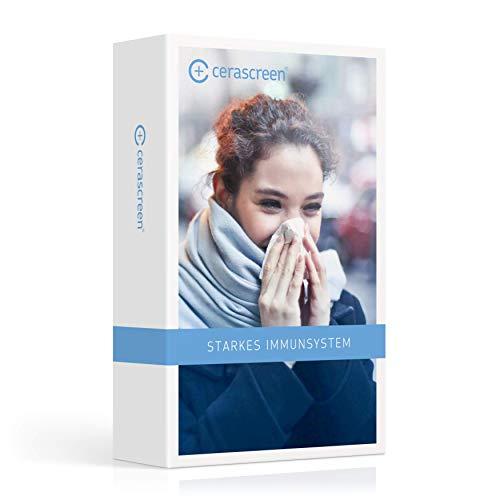 Immunsystem stärken – Kombi Paket von cerascreen | Überprüfung der Nährstoffversorgung Ihres Körpers | Ernährungstipps und Dosierungsempfehlungen für Nahrungsergänzungsmittel im Ergebnisbericht