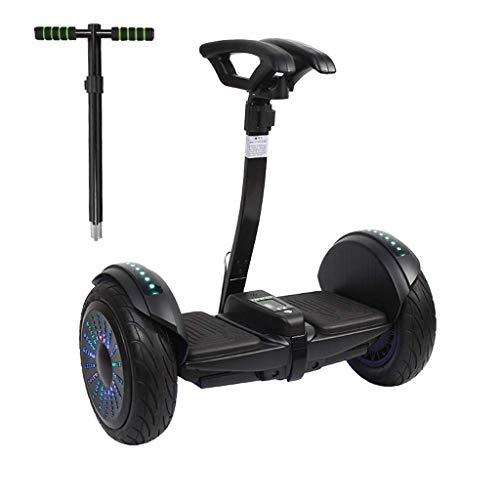 Smart auto-equilibrio de Scooter eléctrico de 10 pulgadas autobalanceo Hoverboards, con iluminación inteligente y sistema de batería, control remoto y automático Siguiendo modo, negro (versión alta) Z