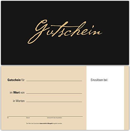 100 Gutscheine Gutscheinkarten Geschenkgutscheine – edel neutral Schwarz-Beige