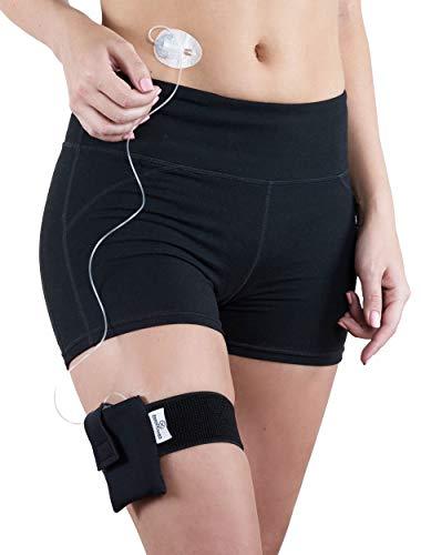 Athletic Insulin Pump Case with Strap for t:Slim (M Leg, Black)