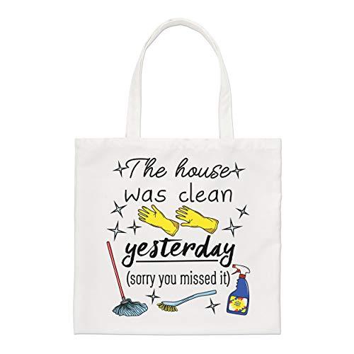 Gift Base The House Was Sauber Yesterday Sorry You Missed Es Regulär Einkaufstasche