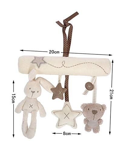 Lowest Prices! Without Baby Bed Baby Crib Rattles Plush Toys Soft Rabbit Rattles Pram Rattle Toys Ha...