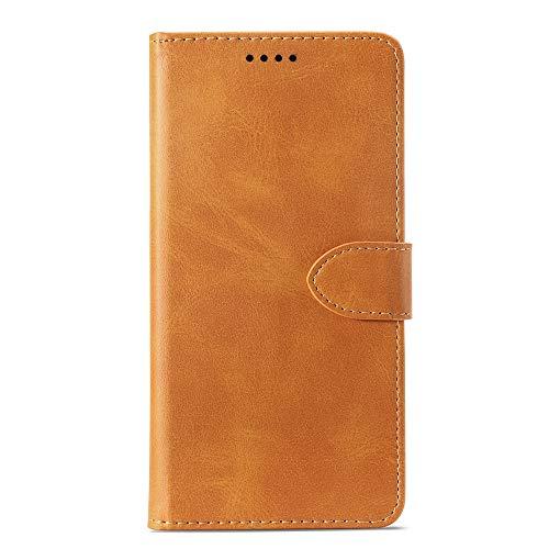 LICHONGGUI Phone Protector Custodia in Pelle a Vibrazione Orizzontale in Pelle di Vitello for Samsung Galaxy J8, con Porta-Carte e Portafogli e Portafogli (Giallo) (Colore : Giallo)