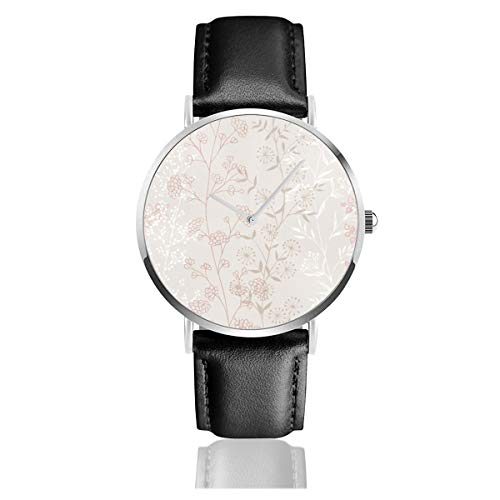 Graham Brown Jemima Zweige Beige Pink Floral Classic Casual Fashion Quarzuhr Edelstahl Lederband Uhren