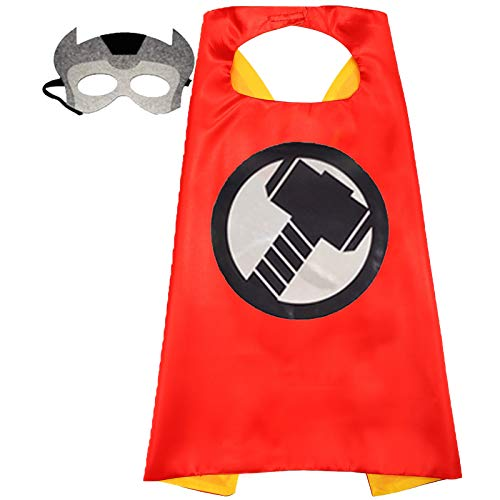 Superhero Capes and Mask for Kids Compatible Superhero Toys and Superhero Costumes Party Best Kids Gifts (Raytheon)
