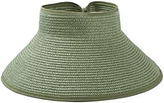 قبعة من القش بحافة امامية للنساء