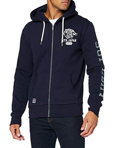Superdry T&f Classic Zip Hood suéter, Marina Nautica, XS para Hombre
