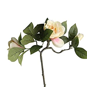 Artificial and Dried Flower Gardenia Simulation Flower Silk Cloth Artificial Flowers Real-Look Wedding Home Decoration – ( Color: 1)