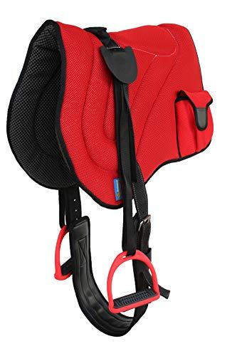 Professional Equine Horse Saddle PAD Neoprene ded Anti-Slip Breathable Red Bareback Pad 39194RD