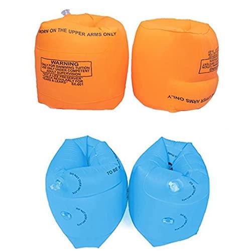 fedsjuihyg Schwimmen Armband aufblasbare Schwimmen-Arm-Band Kids Pool Float Armbinden für Nachbetreuung Schwimmtraining orange 4PCS Wassersport