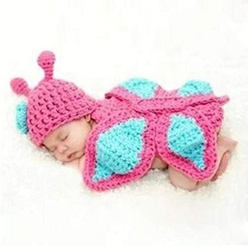 Dorime Pase Creativa bebé de Punto Ropa de Ganchillo Minnie Traje Lindo del Apoyo de la Foto (Linda Mariposa)