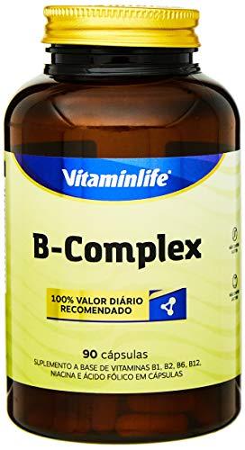 B Complex Vitaminas Complexo B - 90 Cápsulas, VitaminLife