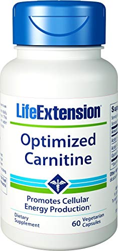 Life Extension Optimized Carnitine Promotes Heart and Brain Health, 60 Capsules - 2 Pack