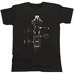 Violin Headstock Unisex Fit T-Shirt Mens & Ladies Music Instrument Festival Band:Dailyvideo