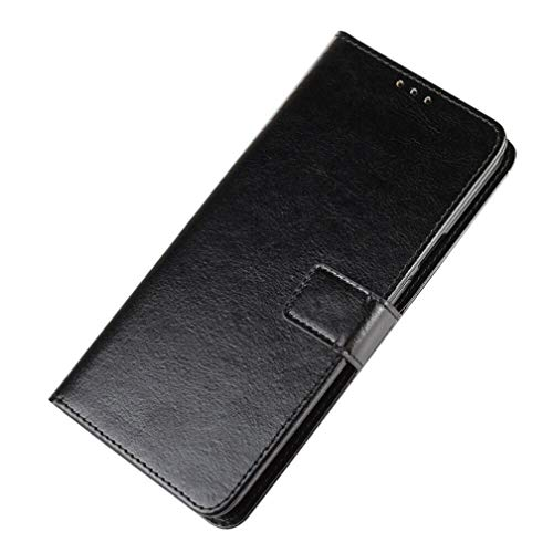 HAOYE Hülle für Xiaomi Redmi Note 8T, Flip Wallet Hülle Cover, Klapphülle Handytasche, [Flip Stand/Kartensteckplatz] Leder PU Handyhülle, Schutzhülle mit Magnet/Geldbörse/Halter, Schwarz