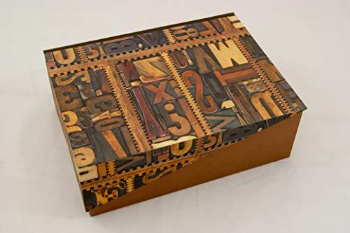 A5 Kästchen mit Zierecke,Letters, Geschenkverpackung, Prägung möglich