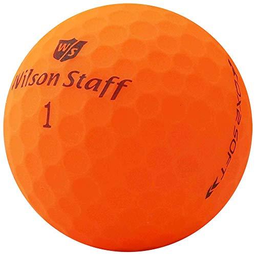 lbc-sports 24 Palline da Golf Wilson Staff Dx2 / Duo Soft Optix - AAAAA - PremiumSelection - Arancione - Finitura Opaca - Palline da Golf usate