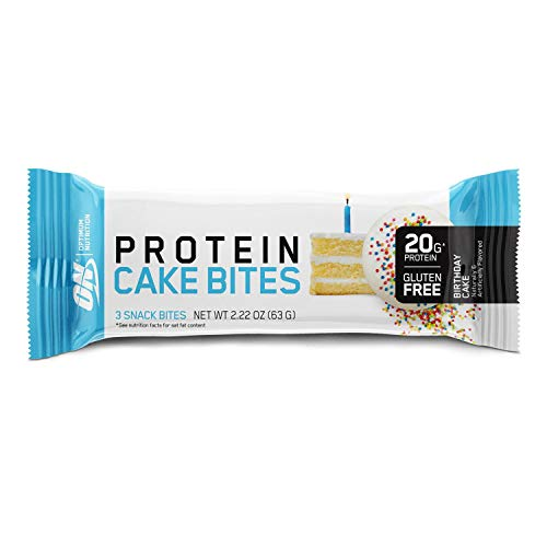 Optimum Nutrition Optimum Nutrition Protein Cake Bites/Whipped Protein Bars, Birthday Cake (9 Count of 2.22 oz Packs), 19.98 oz