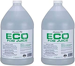 (2) AMERICAN DJ ECO-FOG/G Gallons of Fog/Smoke/Haze Machine Refill Liquid Juice