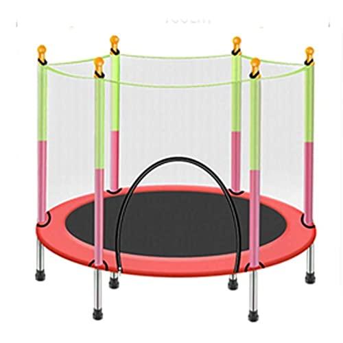 HYDT Interior y al Aire Libre niños Trampolines Cubiertos de Primavera Trampolines elásticos con esteras de Salta cercadas Juguetes de Entretenimiento Deportes Saltando