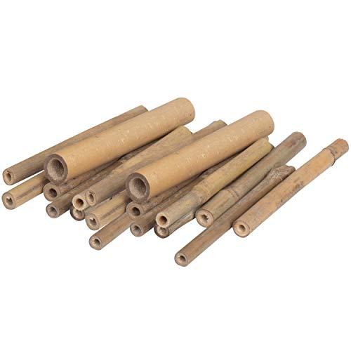 Gardigo Bambusröhrchen - 150 Stück | Für Insektenhotel, Füllmaterial für Insektenhaus, Nisthilfe für Wildbienenhotel, Wildbienenhaus, Bienenkasten