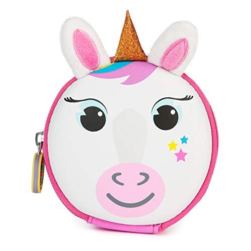 boppi Tiny Trekker Portamonete portachiavi da viaggio piccolo borsellino da viaggio borsetta portachiavi con zip - Unicorno