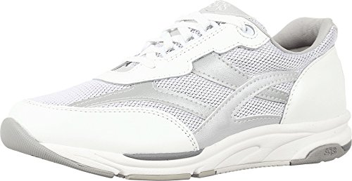 SAS Women's Tour Mesh Comfort Walking Sneakers (8 W - Wide, Silver)