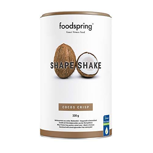 foodspring Shape Shake, Cocco croccante, 330g, Proteine per raggiungere la tua forma perfetta, 67% di proteine del siero del latte