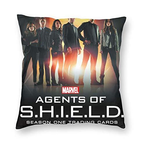 Agents Of Shield - Fundas de cojín decorativas de microfibra suave para sofá, dormitorio, cuadrado
