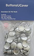 100 ButtonsUCover Size 36 FLAT Back Cover Buttons and Assembly Tool Kit