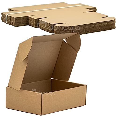 Pack cajas 22.5x15x7 cm | cartón pequeñas, para envíos ecommerce automontables...