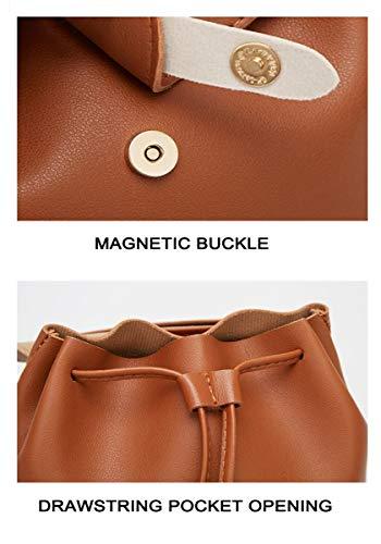 TYPIFY® PU Leather Teddy Keychain Women Backpack Girls Handbag (Baby Pink)