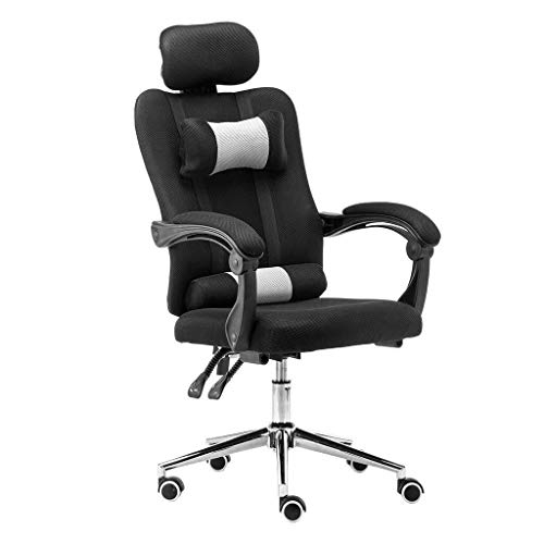 Scra AC Office Chair - Ergonomic Swivel High Back Gaming Computer Chair Massage Chair with Armrests Adjustable Headrest and Leg Pillow (C) (Color : A)