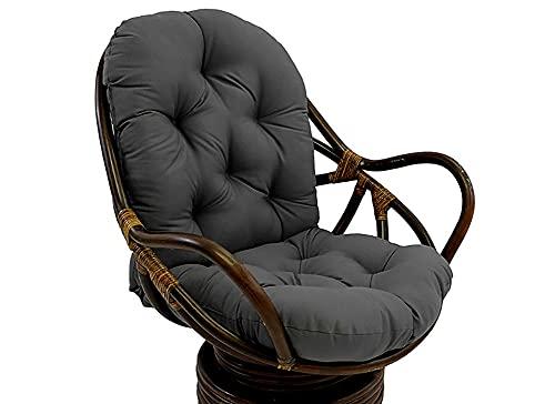 YUNQY Cojín suave y cómodo para silla, cojín de espuma viscoelástica para tumbonas de jardín, cojín de jardín con correas antideslizantes, 120 x 60 cm