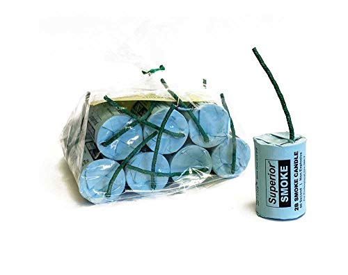2B Smoke Candle, 60-Second, 8000 Cubic ft, 12-Pack