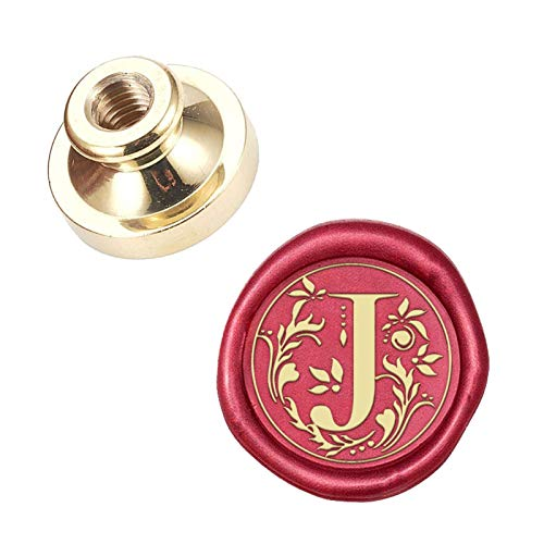 CRASPIRE Wax Seal Stamp Head Letter J Removable Sealing Brass Stamp Head for Creative Gift Envelopes Invitations Cards Decoration