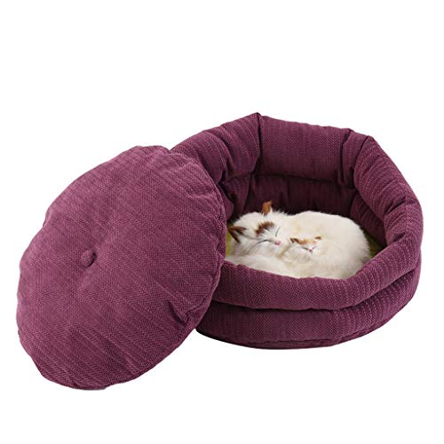 LZC Plush Donut Pet Bed, Pet Bed Dog Cat Bed Soft Warm Pet Cushion Four Seasons Washable Scratch Proof For Small And Medium Pet