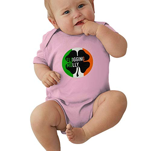 Kirito Beasley Toddler Jersey Bodysuit, Baby Short-Sleeve One-Pieces Bodysuits Celtic Punk Band Flogging Molly Baby Onesie Bodysuit, Child Jumpsuit Clothes Cotton Shirt 6 Months Pink